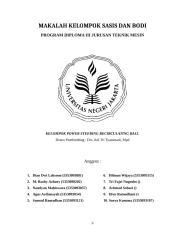 Kelompok Power Steering Recirculating Ball - Cover, Kata Pengantar, Dftar isi.doc