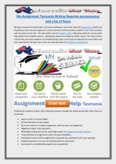 My Assignment Tasmania Writing Requires perseverance and a lot of focus.pdf