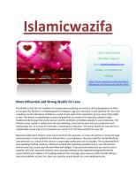 Most Influential and Strong Wazifa for Love.pdf