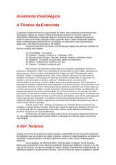 RESUMO - Anamnese Cardiológica.doc