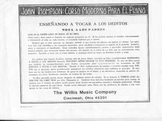 John Thompson - Curso Moderno Para El Piano español.pdf