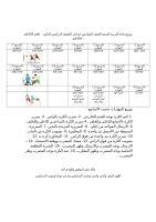 توزيع مادة التربية البدنية الصف السادس ابتدائي الفصل الدراسي الثاني.doc