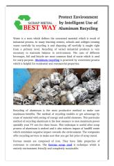 Protect Environment by Intelligent Use of Aluminum Recycling.pdf