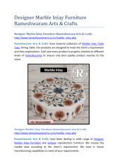 Designer Marble Inlay Furniture Rameshwaram Arts & Crafts.pdf