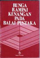 HB. Jassin, dkk., Bunga Rampai Kenangan Pada Balai Pustaka, surat, wawancara, esei, Jakarta Balai Pustaka, 1992, 162hlm, 20,000.jpg