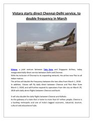 Vistara starts direct Chennai-Delhi service, to double frequency in March.pdf